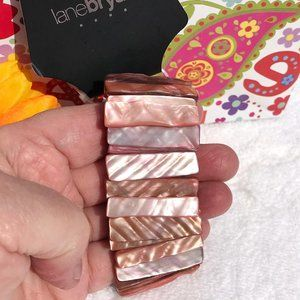 Chunky Boho Shell Stretch Bracelet Shades of Pink
